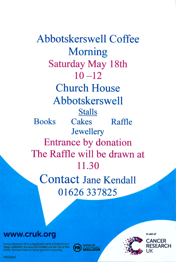 Coffee Morning Poster.9.5