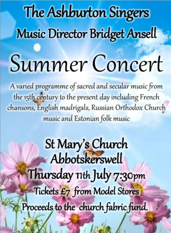 Summer Concert in church poster